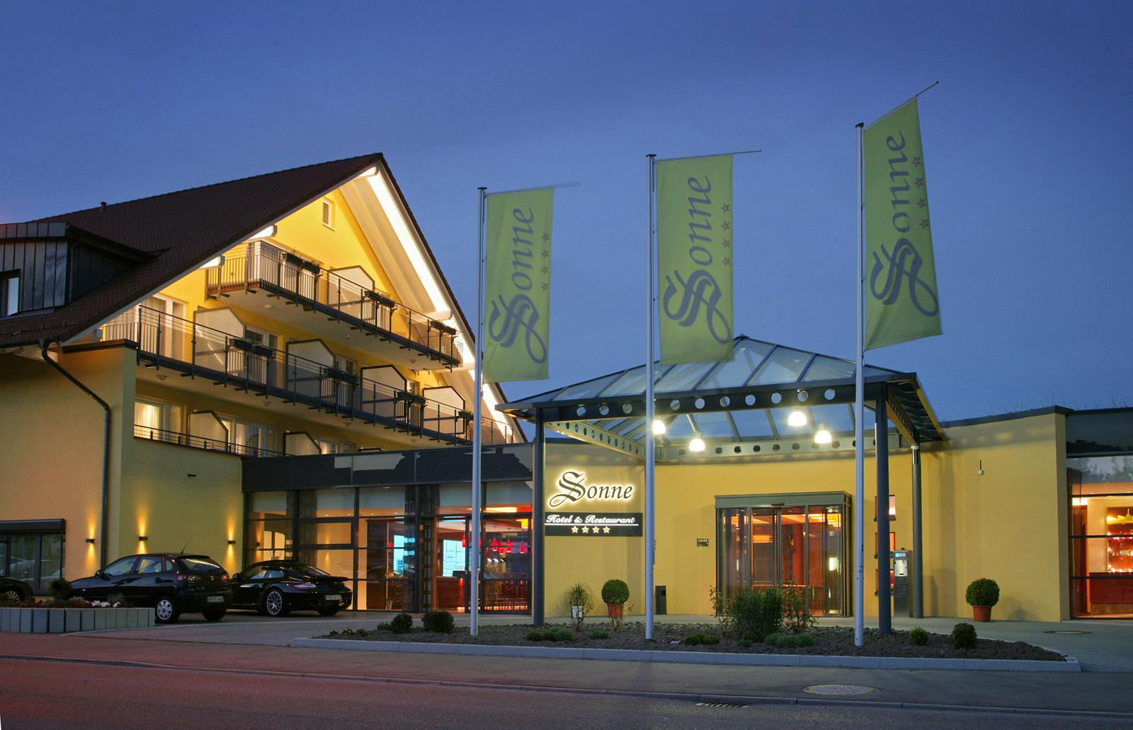 Aussenaufnahme bei Nacht - Hotel Sonne, Rudersberg/schlechtbach